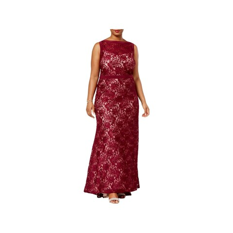 Nightway Womens Plus Evening Dress Full-Length Special Occasion