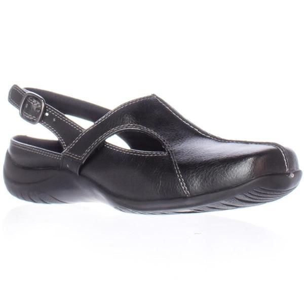 Easy Street Sportster Sling-Back Comfort Flats, Black