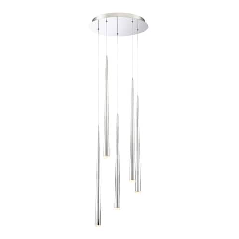 """Modern Forms PD-41805R Cascade 5 Light 17"""" Wide LED Crystal Multi"""