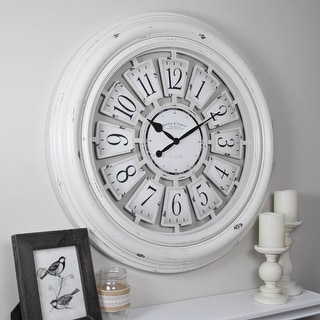 Link to FirsTime & Co.® Farmhouse Plaques Wall Clock, American Crafted, Antique White, Plastic, 29 x 2.25 x 29 in - 29 x 2.25 x 29 in Similar Items in Decorative Accessories