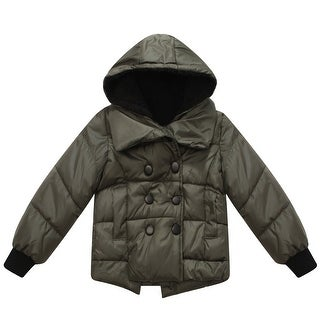 Richie House Boys' Hooded Padding Jacket with Snap Buttons Clousure