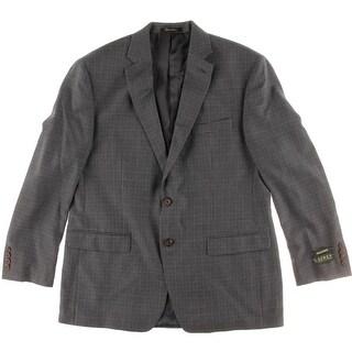 Lauren Ralph Lauren Mens Houndstooth Notch Collar Sportcoat