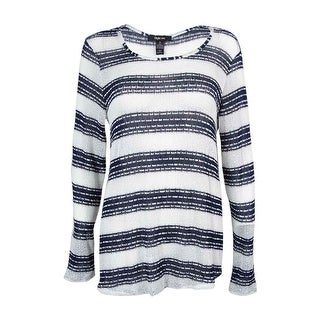 Style & Co. Women's Striped Hi-Low Knit  Top