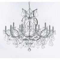 Swarovski Crystal Trimmed Chandelier! Maria Theresa Chandelier Lighting Crystal Chandeliers Chrome Finish