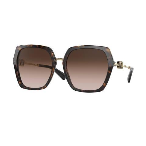 Valentino VA4081 500213 57 Havana Woman Irregular Sunglasses