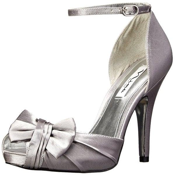 Nina Womens Ella Peep Toe Bridal Ankle Strap Sandals