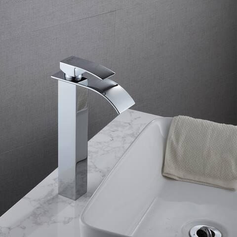 Single Hole Handle Single Control Bathroom Basin Waterfall Faucet - 8' x 10'