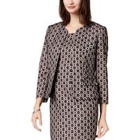Kasper Womens Petites Open-Front Blazer Professional Office Wear