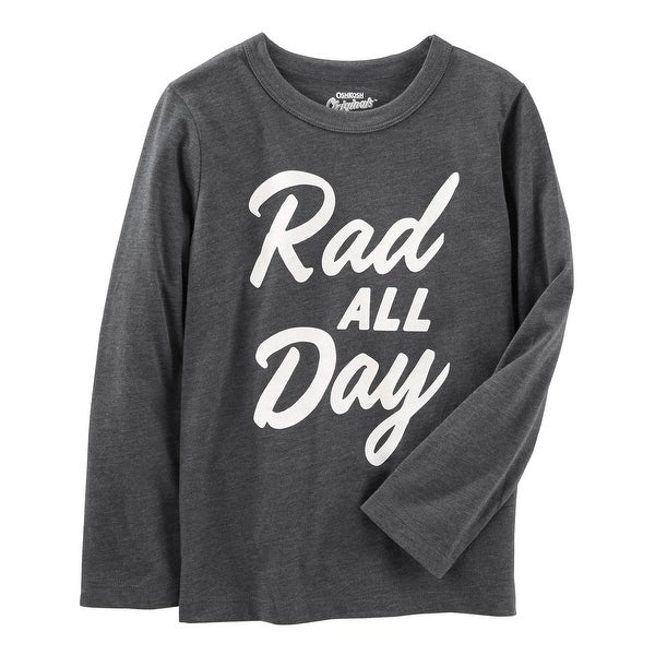 0a00faa5c78 Shop OshKosh B'gosh Little Boys' Be You Tee, Gray, Rad All Day, 4 Kids - Free  Shipping On Orders Over $45 - Overstock.com - 21024296