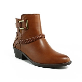 Easy Street Womens Bridle Tan Fashion Boots Size 7
