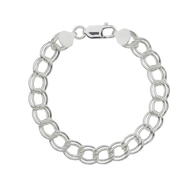 Charm Bracelet in Sterling Silver - White