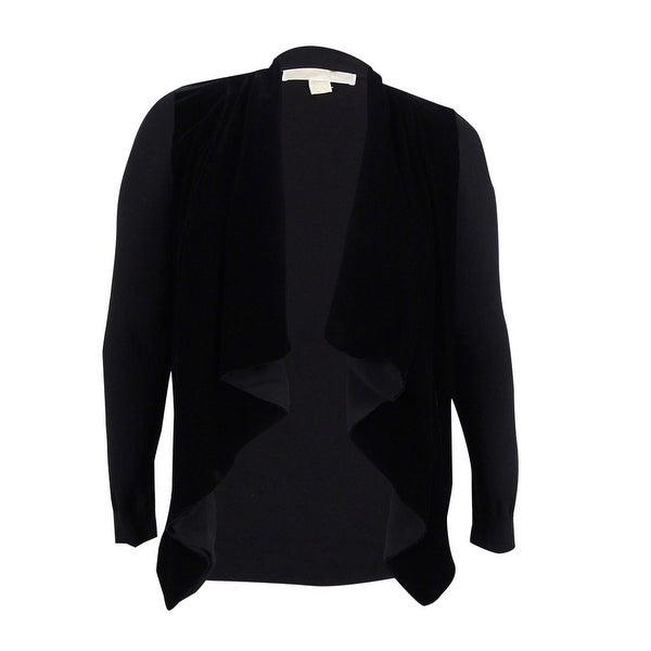91e4021c3b1 Shop MICHAEL Michael Kors Women s Velvet Waterfall Cardigan (L ...