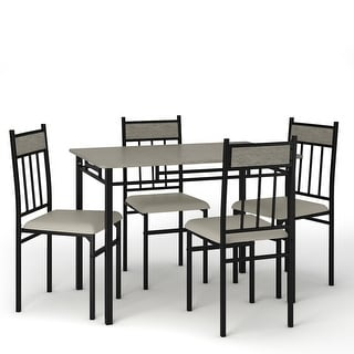 Link to Costway 5 Piece Faux Marble Dining Set Table and 4 Chairs Kitchen Similar Items in Dining Room & Bar Furniture