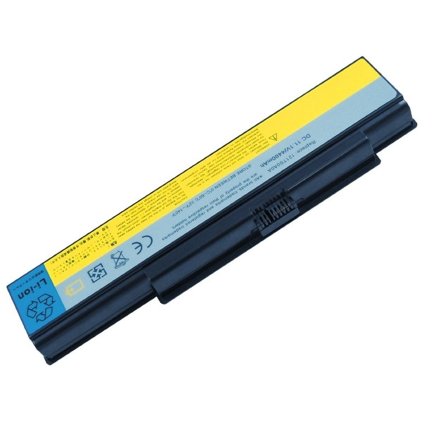 AGPtek Black 6Cell 11.1V 4400mAh/49Wh Laptop Li-ion battery replacement for IdeaPad Y710 121TM030A