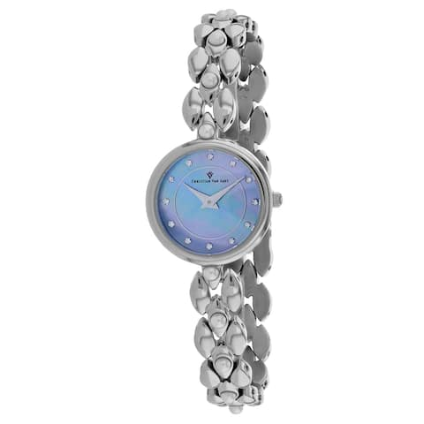 Christian Van Sant Women's Perla Blue mother of pearl Dial Watch - CV0611 - One Size