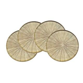 Godinger 48171 Dax Coasters, Gold - Set of 4