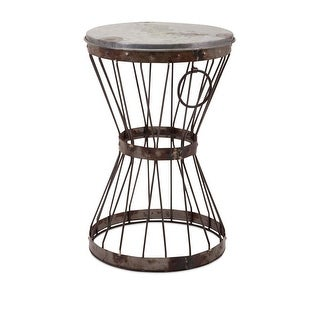 20 Stool Stacy Slim Galvanized Iron Stool or Side Table