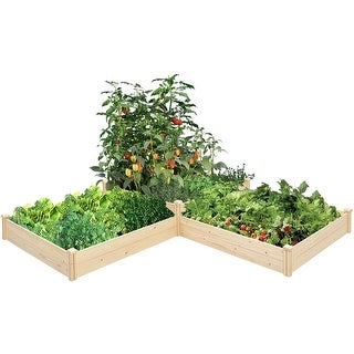 SUNCROWN Outdoor Wooden Garden Bed Planter Box