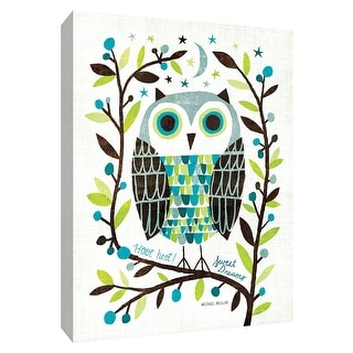 """PTM Images 9-154900  PTM Canvas Collection 10"""" x 8"""" - """"Night Owl I"""" Giclee Owls Art Print on Canvas"""