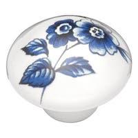 "Hickory Hardware P606 English Cozy 1-1/2"" Diameter Mushroom Cabinet Knob - Flower - n/a"