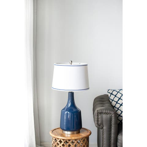 """15x15x28"""" Ceramic With Metal Base Table Lamp,Kd Neck"""