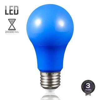 Blue LED A19 Colored Light Bulb, E26 Medium Base, 7W (50W Equiv.), Non-Dimmable