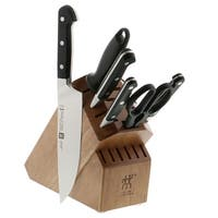 ZWILLING Pro 7-pc Knife Block Set - Black/Stainless Steel