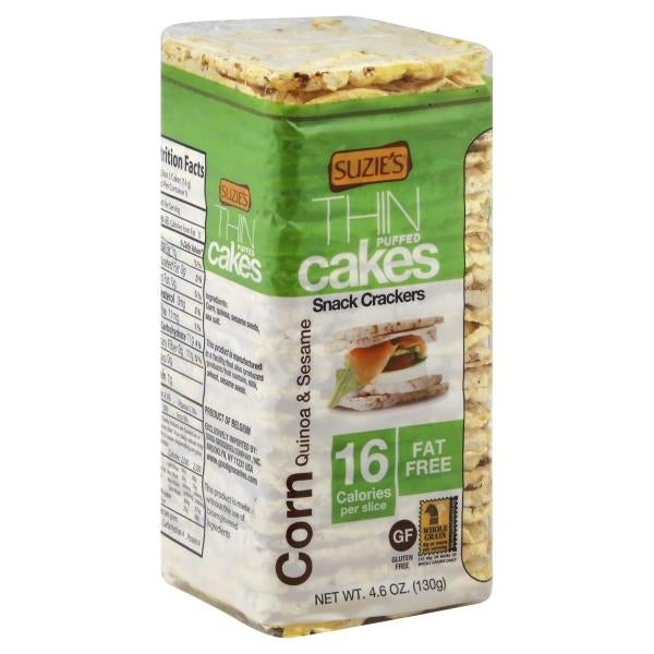 Suzie's Whole Grain Thin Cakes - Corn, Quinoa and Sesame - Case of 12 - 4.6 oz.
