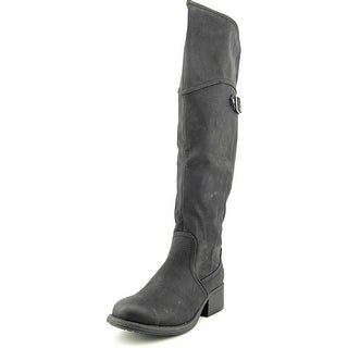 Madden Girl Paarkerr Wide Calf Women Round Toe Synthetic Over the Knee Boot