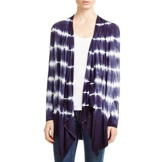 Cupio Womens Cardigan Sweater Tie-Dye Throw over