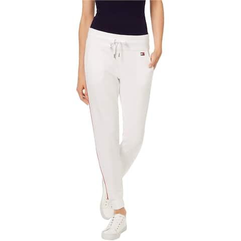 Tommy Hilfiger Womens Stripe Athletic Jogger Pants white 2XL/28