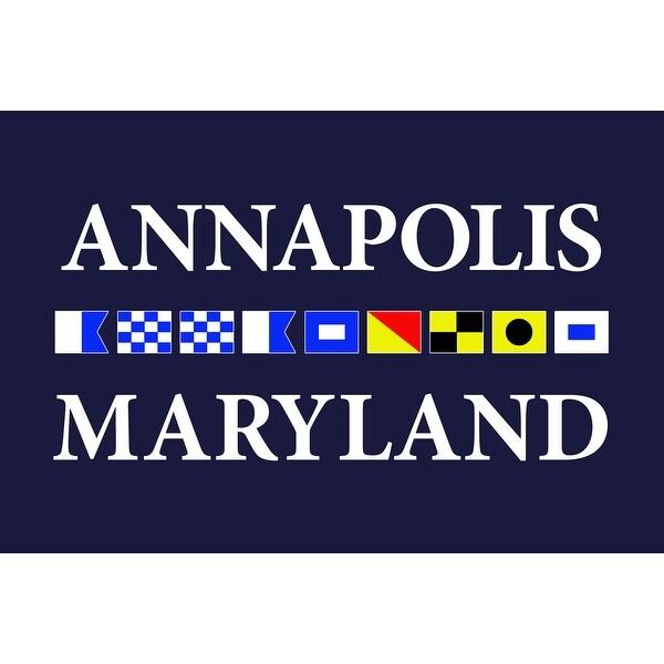 Annapolis, MD - Nautical Flags - LP Artwork (Art Print - Multiple Sizes)