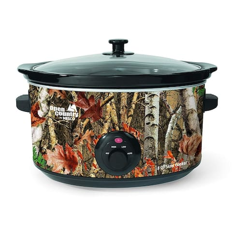 Open Country by Nesco SC-8017 Slow Cooker, 8 quart, Woodland Birch Camo