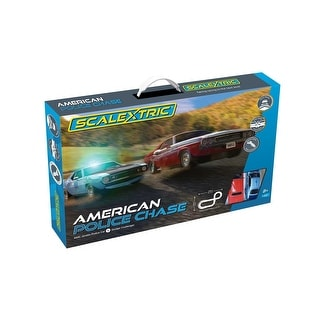 Link to Scalextric American Police Chase AMC Javelin vs Dodge Challenger Police Car 1:32 Slot Car Race Track Set C1405T Similar Items in Toy Vehicles