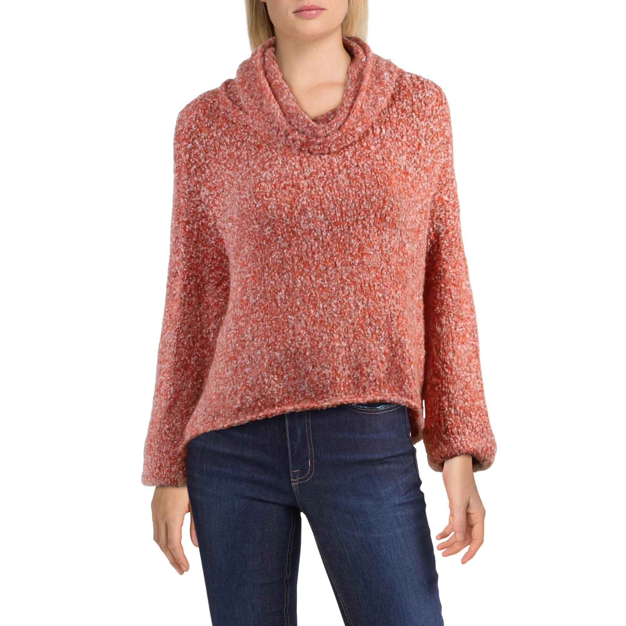 Free People Womens BFF Purple Knit Hi-Low Pullover Sweater Top XS BHFO 3532