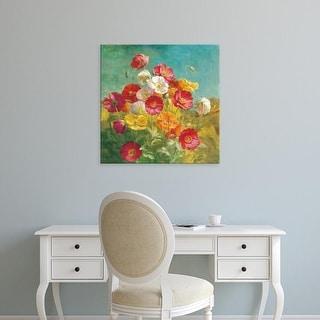 Easy Art Prints Danhui Nai's 'Poppies in the Field' Premium Canvas Art