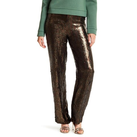 Tibi Women's 12X33 Sequin Straight-Leg Dress Pants