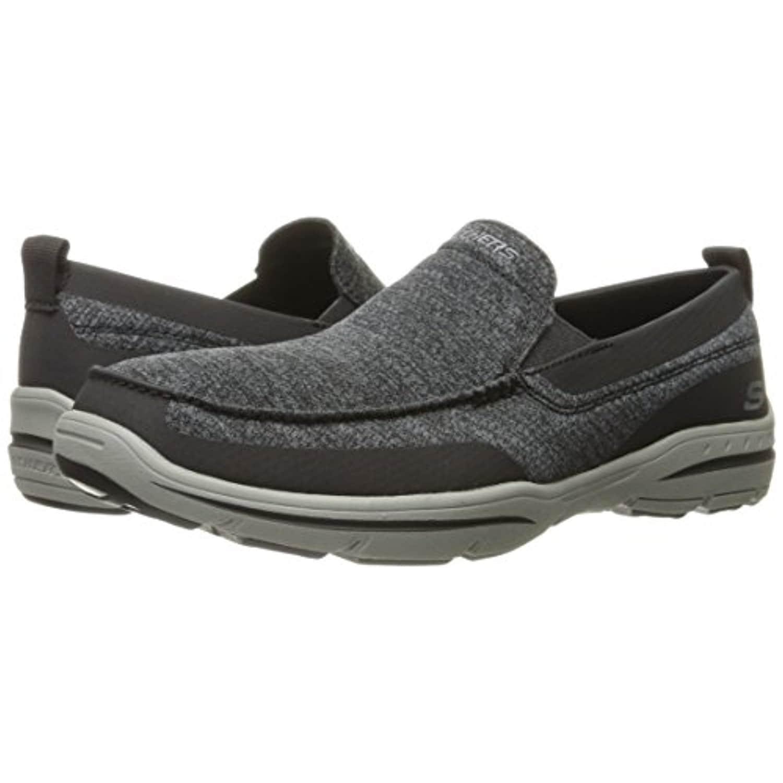 94fb98845db Shop Skechers USA Men's Harper Moven Slip-on Loafer, Black Gray - Black  Gray - Free Shipping Today - Overstock.com - 18281382