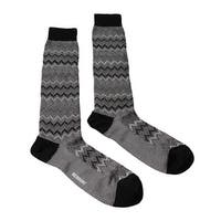 Missoni GM00CMU5445 0008 Gray/Black Knee Length Socks - Grey