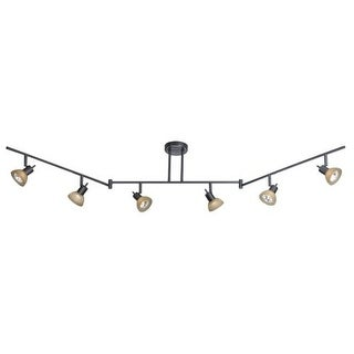 Vaxcel Lighting SP53566 Como 6 Light 50 Watt Each Segmented Halogen Accent Light Fully Adjustable