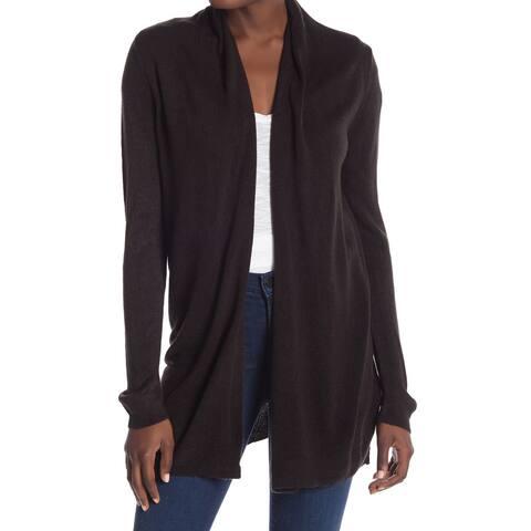 Joe Fresh Black Women's Size Medium M Cardigan Open-Front Sweater 001
