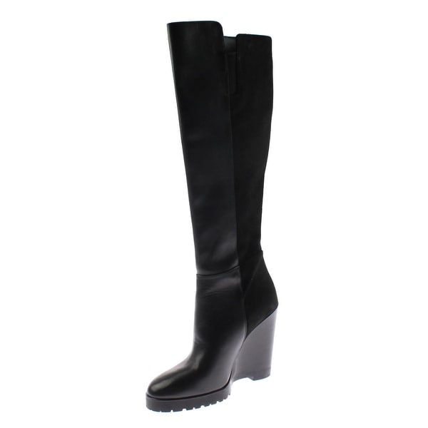 14f8e315382 Shop MICHAEL Michael Kors Womens Clara Knee-High Boots Leather Mixed ...