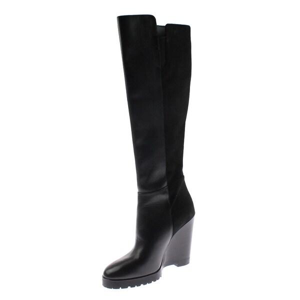 bfcdd6d1b02 Shop MICHAEL Michael Kors Womens Clara Knee-High Boots Leather Mixed ...
