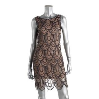 Pisarro Nights Womens Sequined Open Back Clubwear Dress - 2