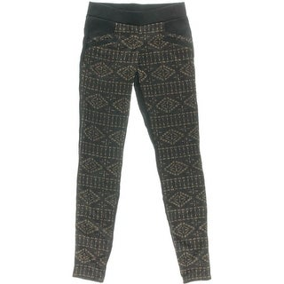 BeBop Womens Flat Front Metallic Casual Pants - S