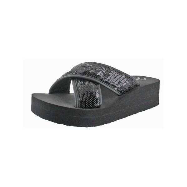 Grazie Womens Farout Wedge Sandals Crisscross Casual