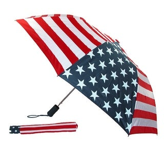Rainkist Wind Resistant American Flag Automatic Umbrella - american flag - One Size