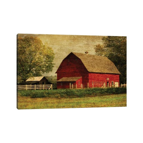 "iCanvas ""Red Barn"" by Graffi*Tee Studios Canvas Print"