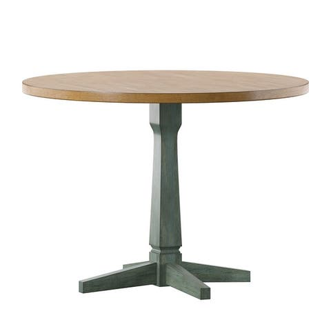 Hillpointe Round Two-Tone Dining Table by iNSPIRE Q Classic