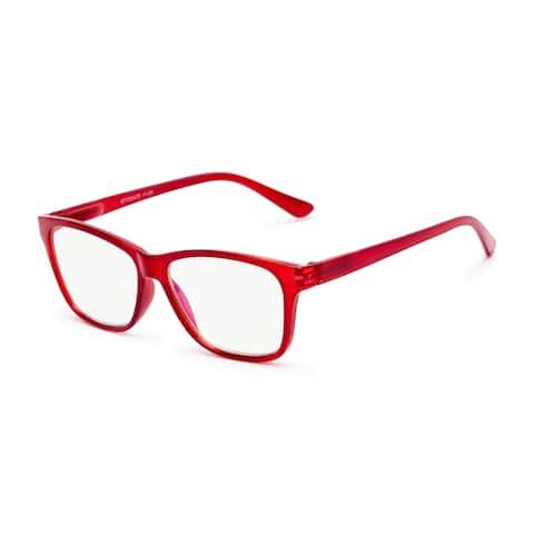 Readers.com The Francis Blue Light Reader Retro Square Reading Glasses